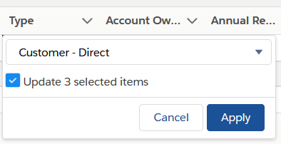 Screenshot of how to update data and apply to multiple records
